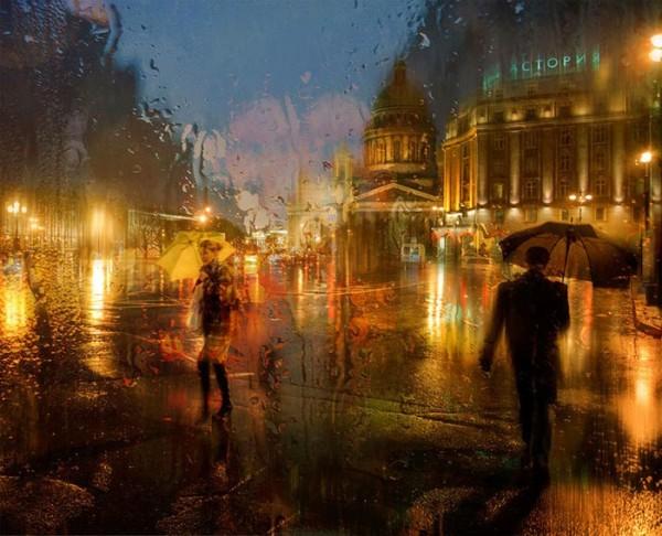 عکسهای تماشایی از خیابانهای خیس از باران
