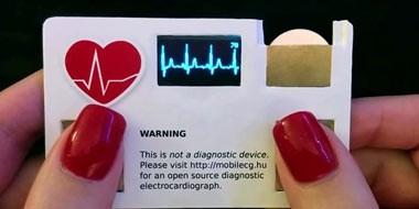 کارت ویزیت مجهز به حسگر شمارش ضربان قلب!!